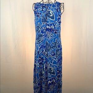 Lands' End Dresses - LANDS'END floral knit sleeveless dress S